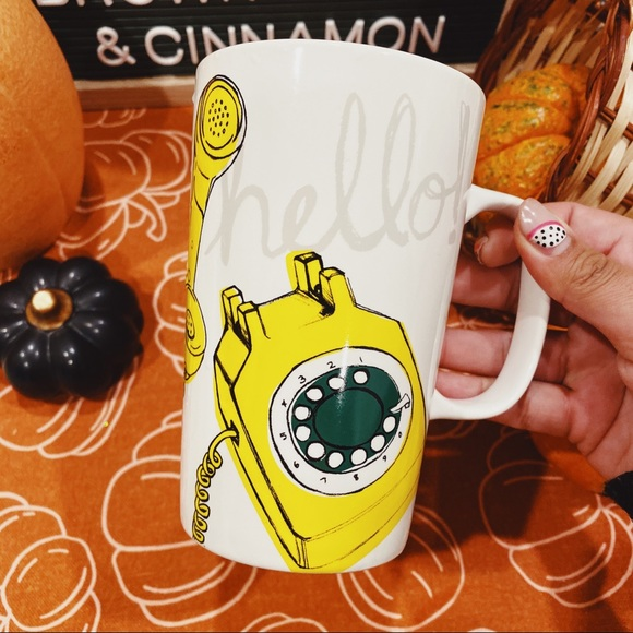 "Starbucks Other - Starbucks | 2015 ""Hello"" Yellow Telephone Mug"